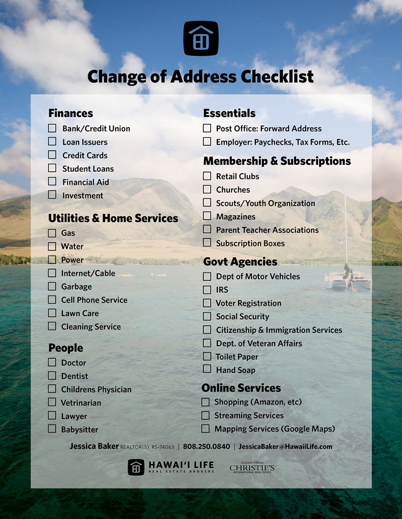Change of Address Click to Download